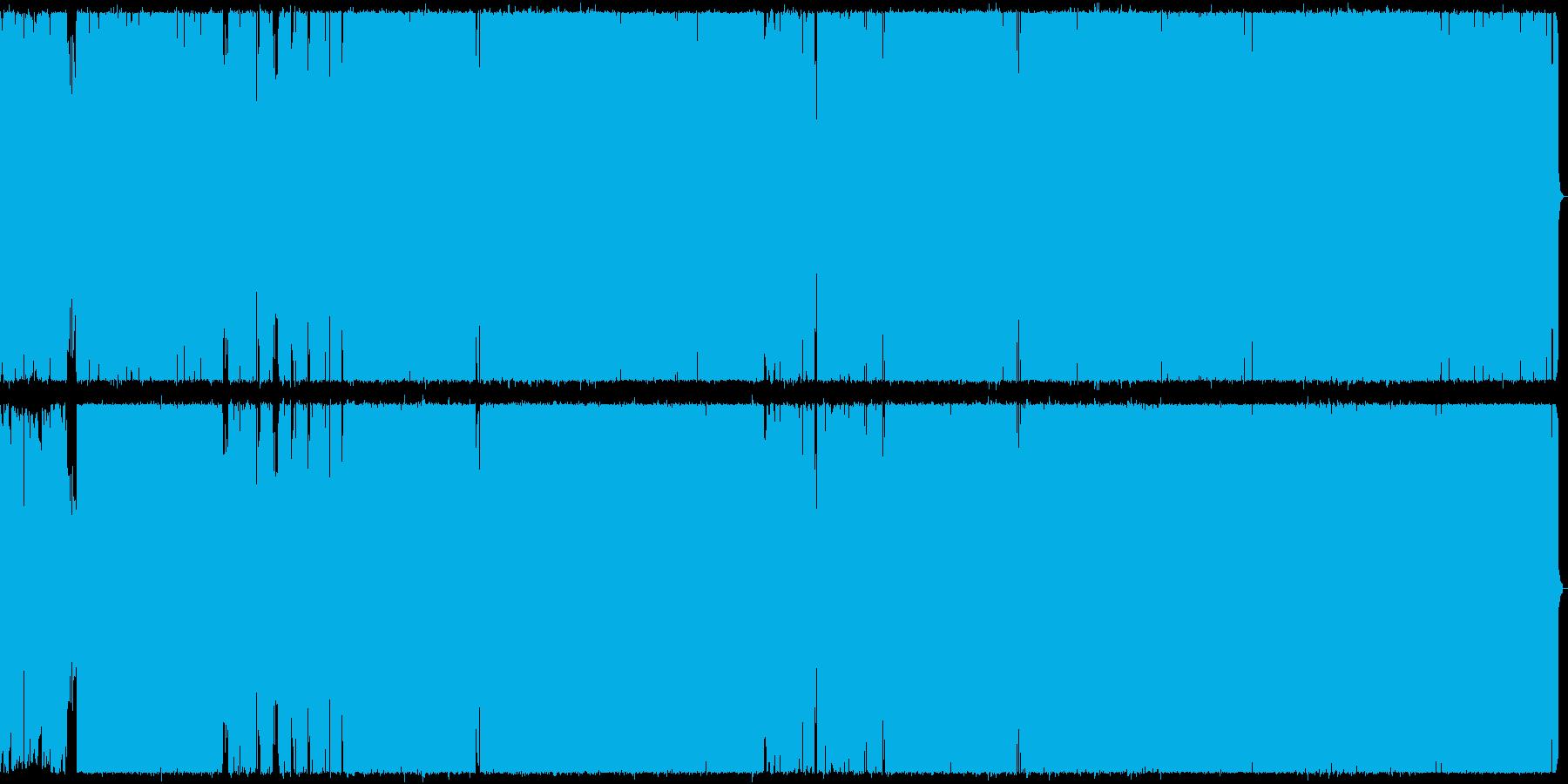 アップテンポなロックの再生済みの波形