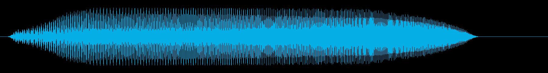 プゥ〜ィ(警戒音、伸びる音)の再生済みの波形