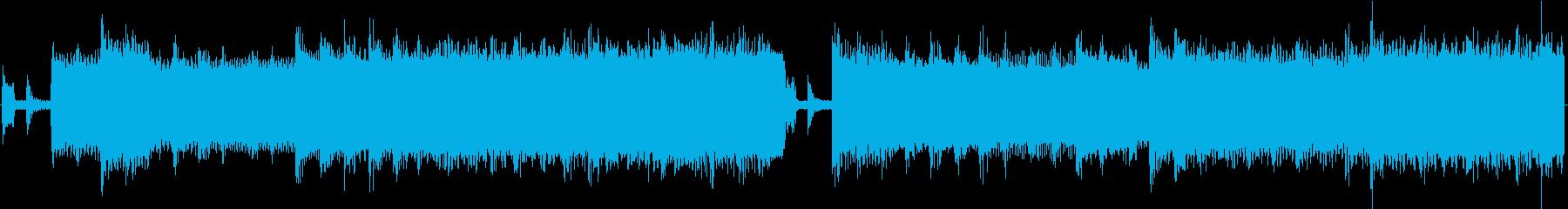 8bit コミカル、ポップなループBGMの再生済みの波形