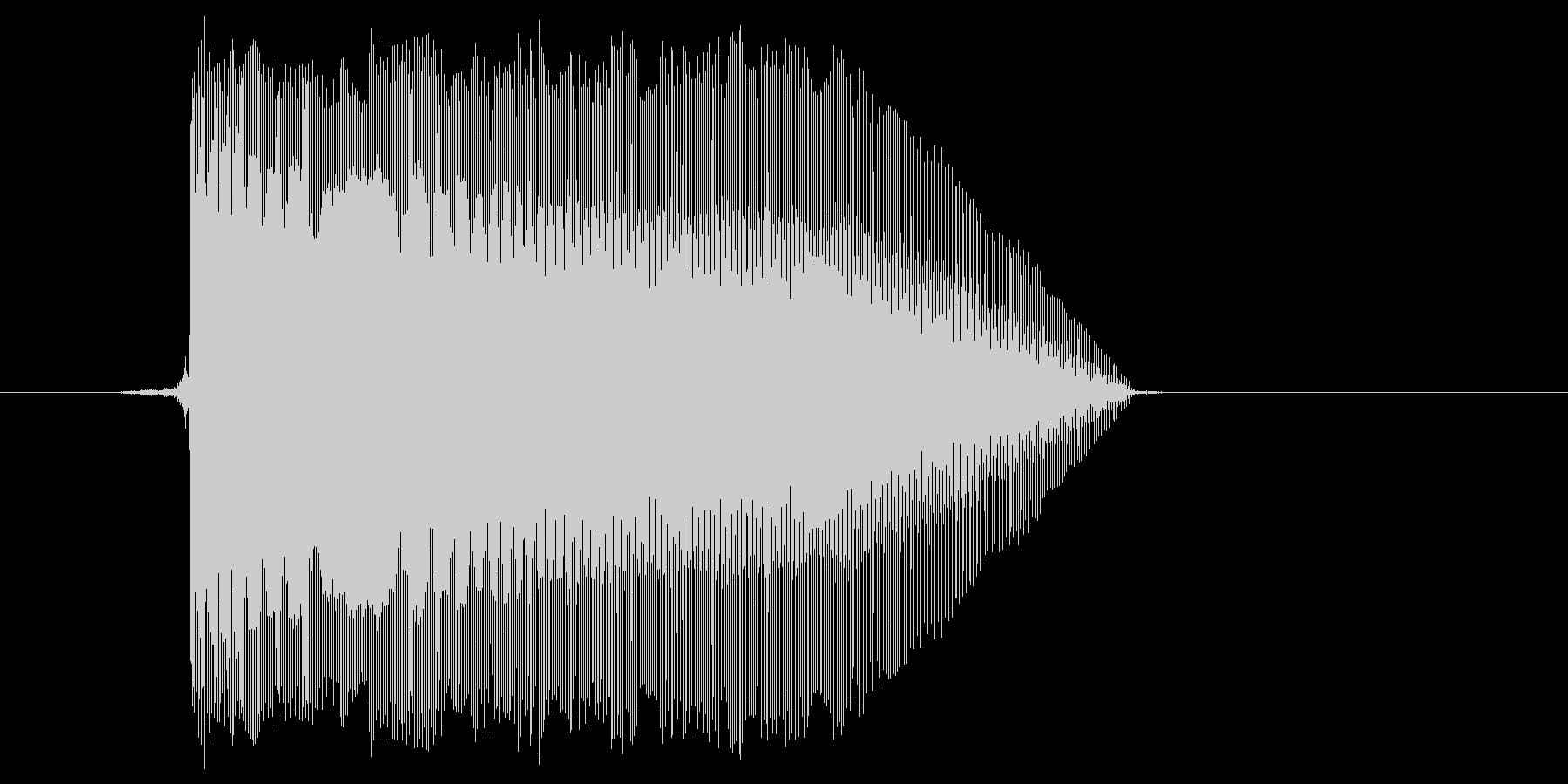 ゲーム(ファミコン風)レーザー音_046の未再生の波形