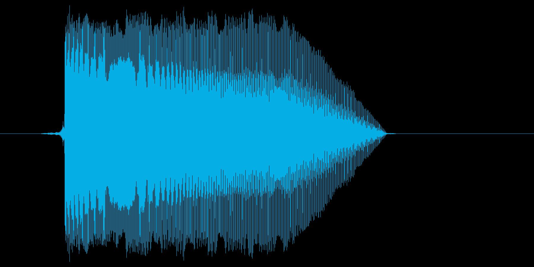 ゲーム(ファミコン風)レーザー音_046の再生済みの波形