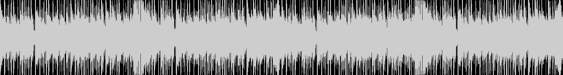テクノポップなイメージのループ仕様BGMの未再生の波形