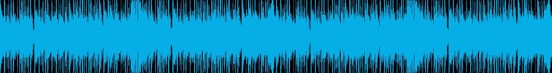 テクノポップなイメージのループ仕様BGMの再生済みの波形