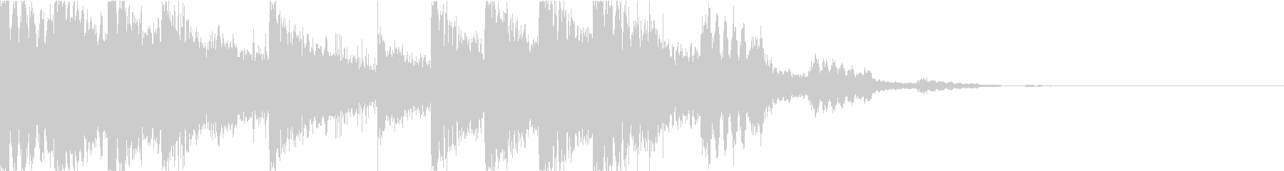 ピコピコ/不気味なサウンドロゴの未再生の波形