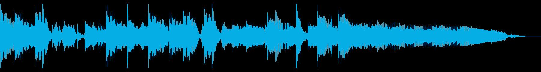 生演奏ギターカッティングのジングルの再生済みの波形