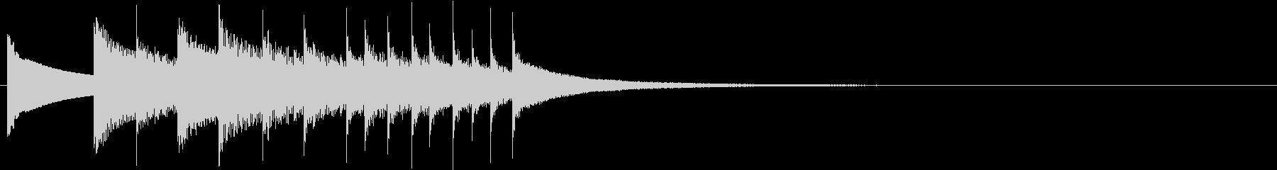 可愛い鉄琴のチャイム音の未再生の波形