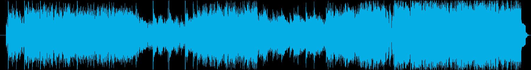 情熱的でハイテンポな民族音楽の再生済みの波形