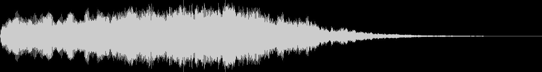 オープニング用アイコン表示サウンドロゴの未再生の波形