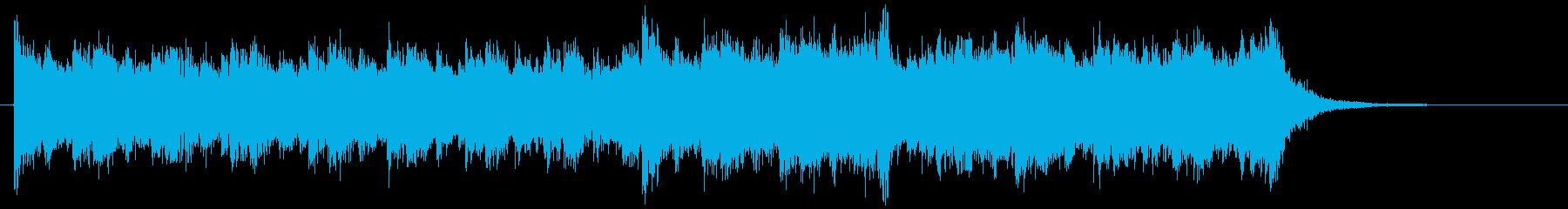 映画音楽風BGM1の再生済みの波形