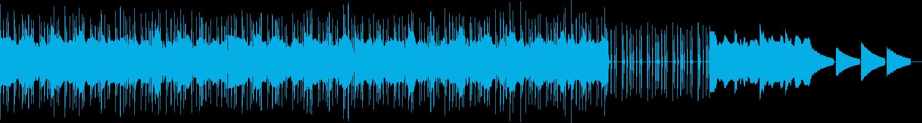 ダークな雰囲気のエレクトリックな曲の再生済みの波形