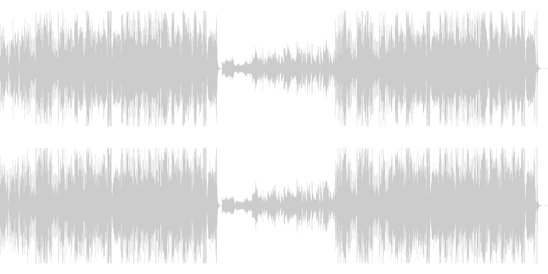 速弾きピアノ 高速 優雅 ジャズ の未再生の波形
