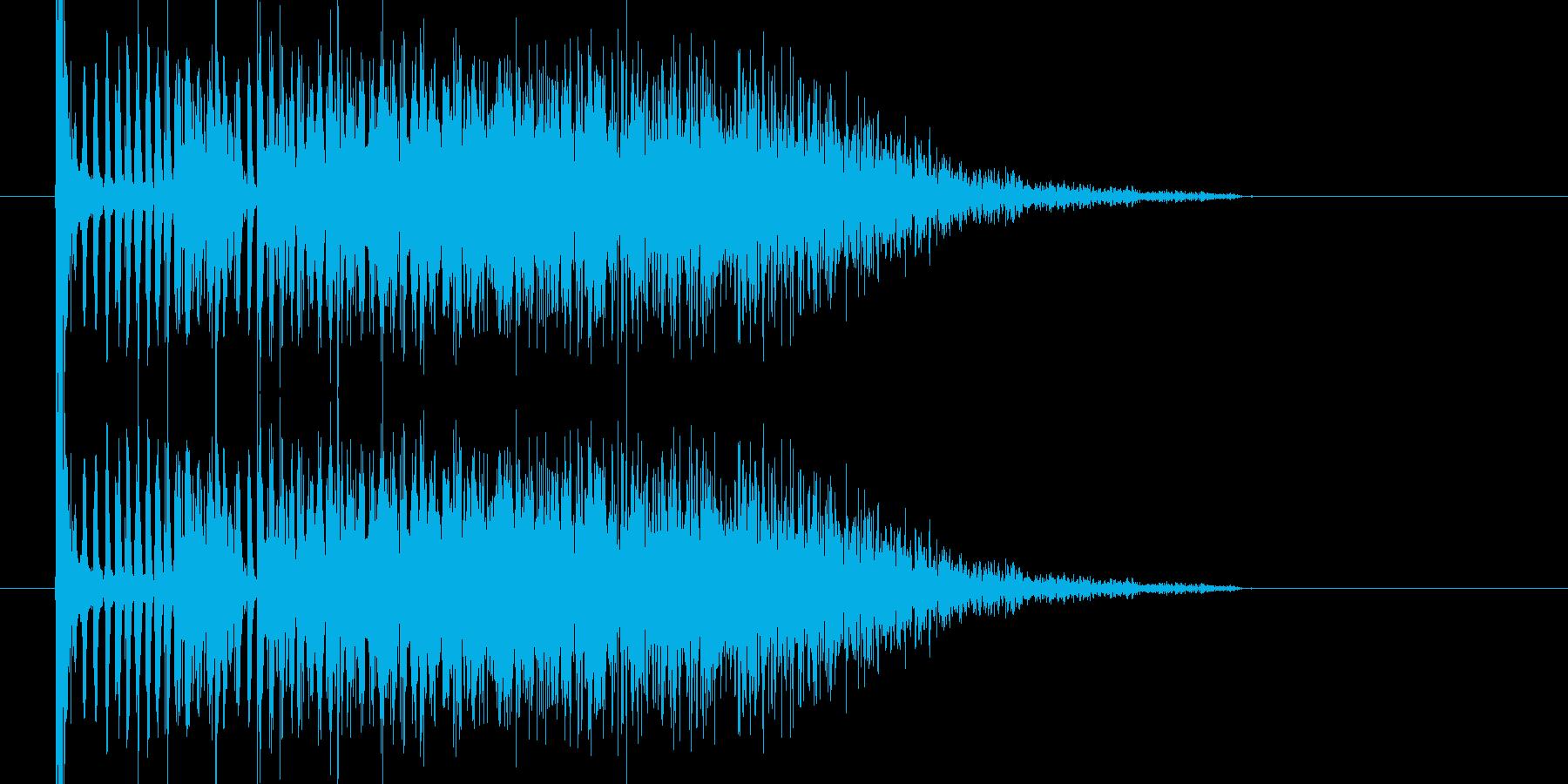 ボカーンチリチリという爆発音になります。の再生済みの波形