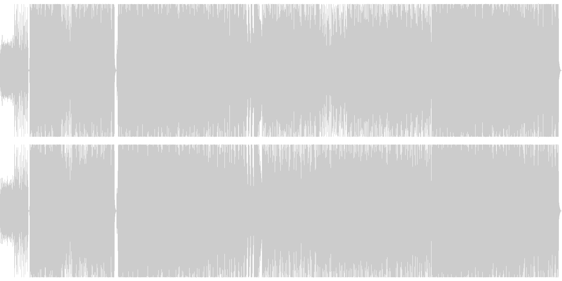 バンド編成 オルタナティブ ポストロックの未再生の波形