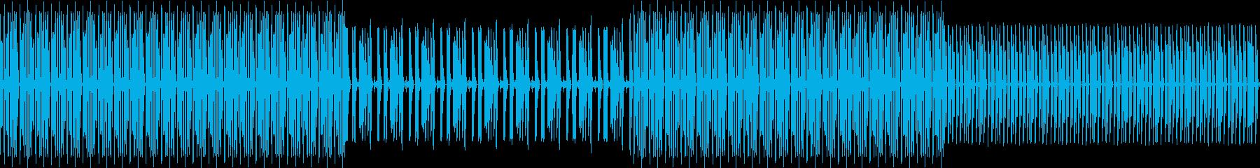 リズミカルなドラムの再生済みの波形