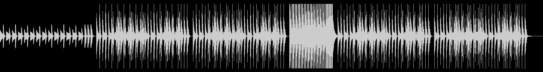 ピアノとマリンバが可愛いリラックス日常曲の未再生の波形