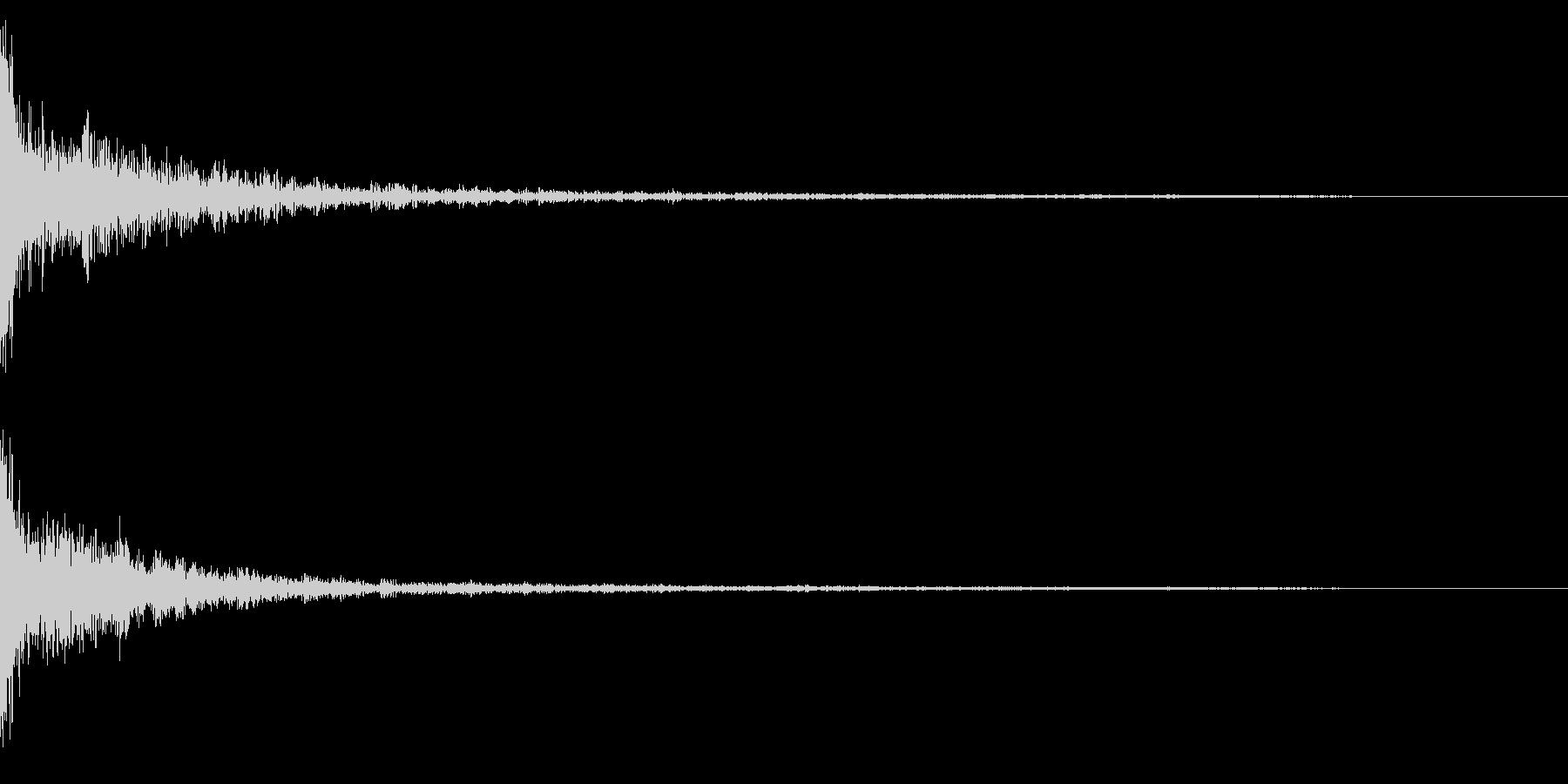 ホラー系アタック音38の未再生の波形