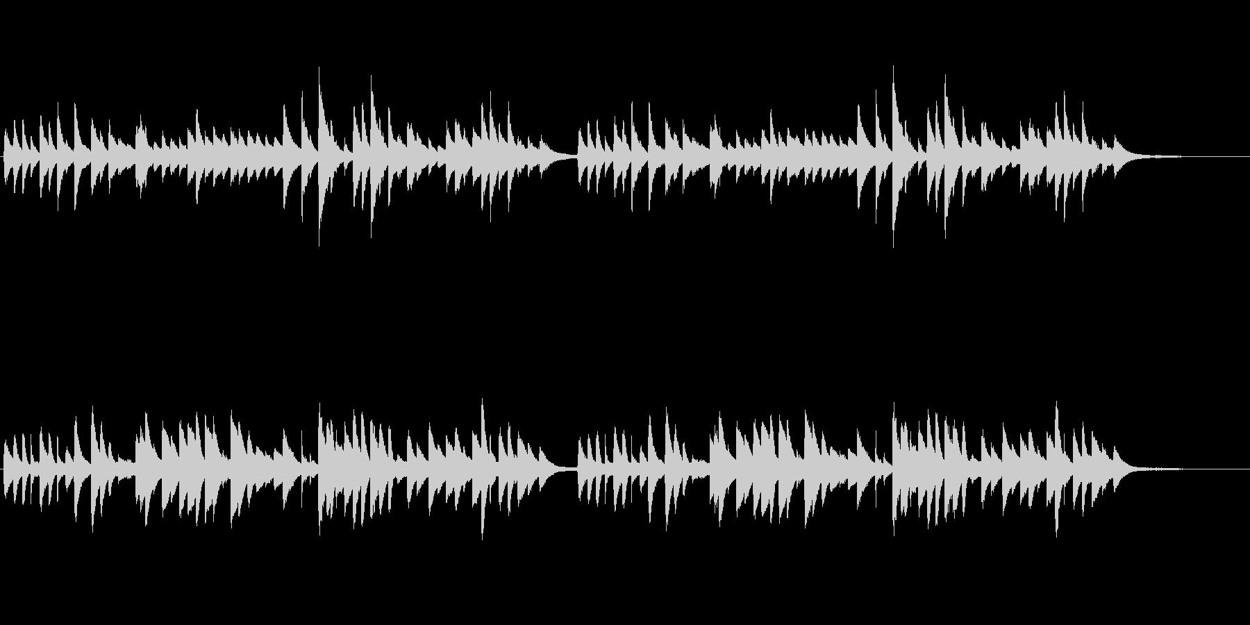 童謡「ひな祭り」シンプルなピアノソロの未再生の波形