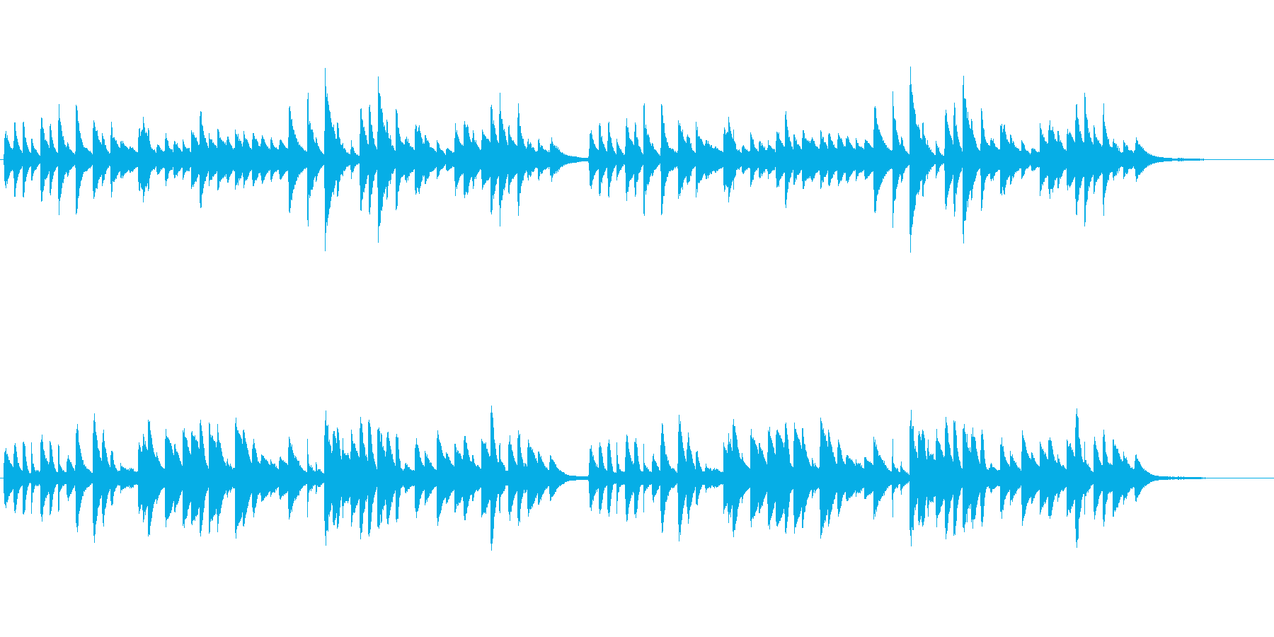 童謡「ひな祭り」シンプルなピアノソロの再生済みの波形