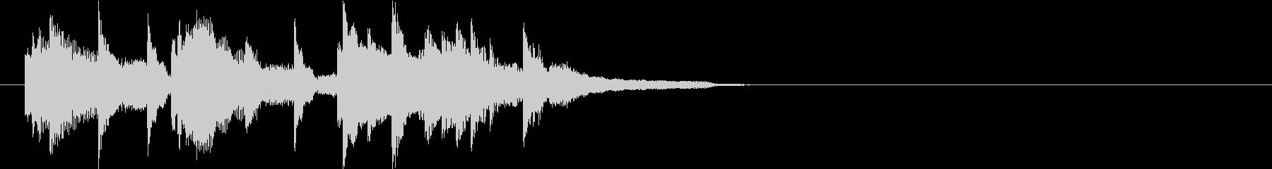 ピアノによるおしゃれなジングルの未再生の波形