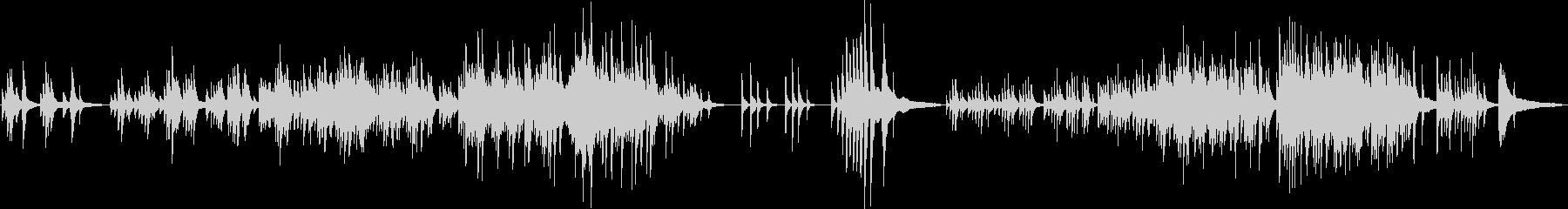 温かく、どこか切ないピアノソロ曲の未再生の波形