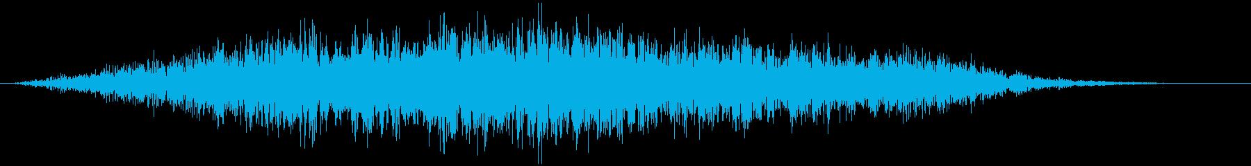 不協和音ハウリング【ホラー】ビィォォォンの再生済みの波形