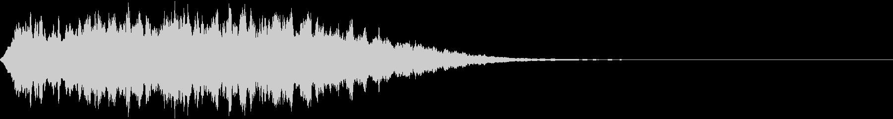少し不気味な音2の未再生の波形