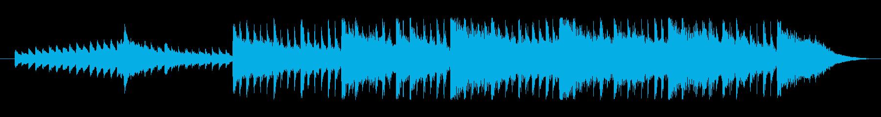 明るくポジティブなBGMの再生済みの波形