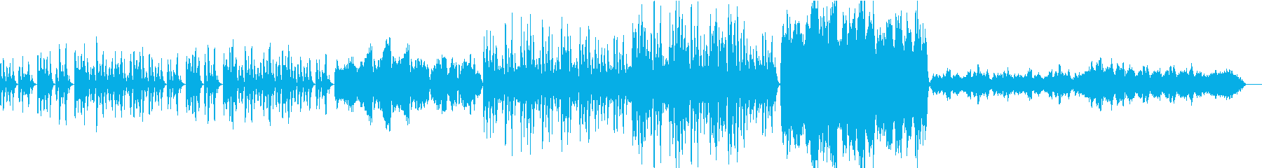 ほのぼのとして穏やかな曲の再生済みの波形