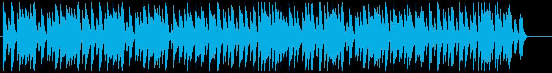 ゆったりしたア古いジャズピアノの再生済みの波形