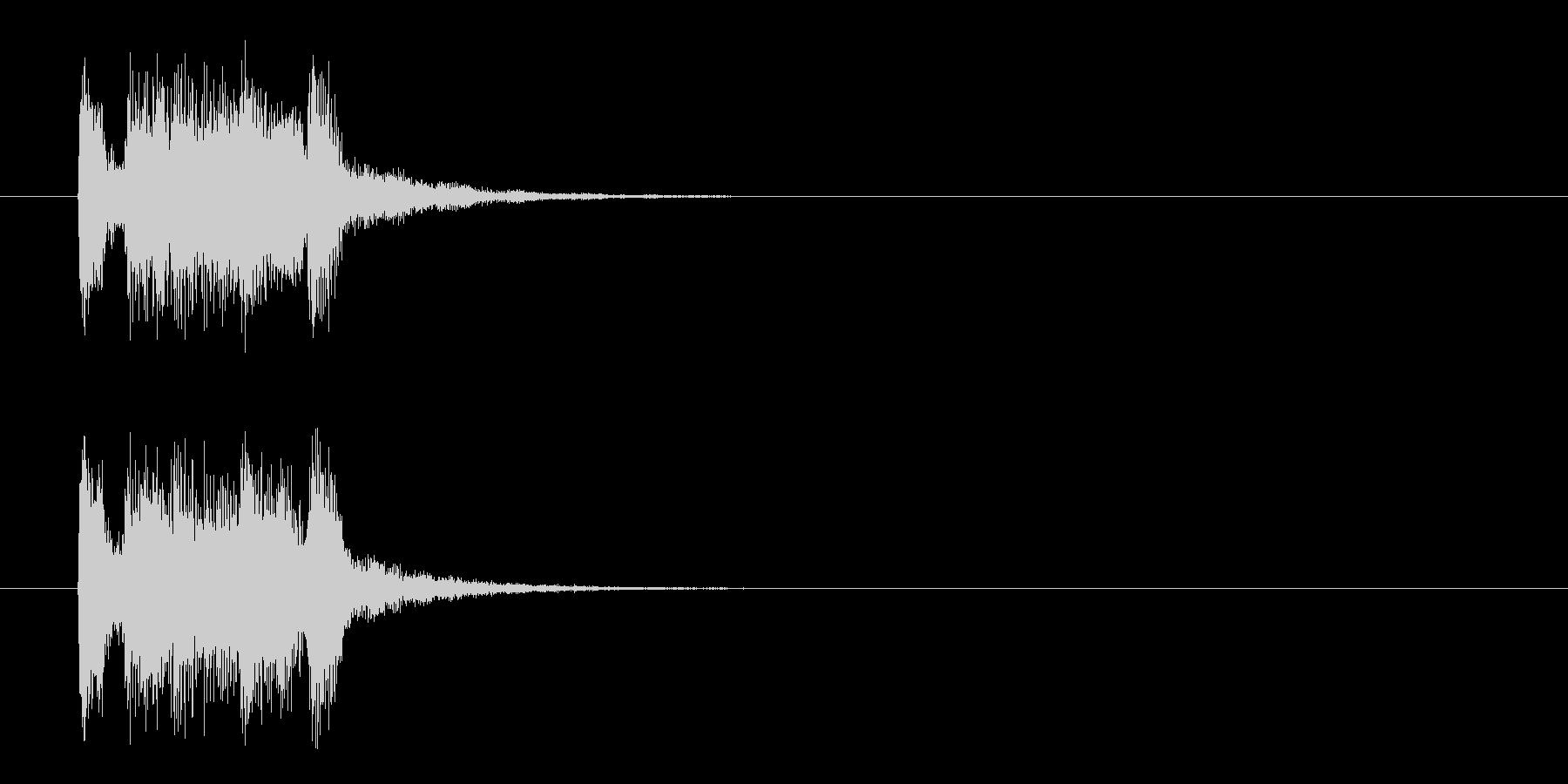 ジングル(マイナー・アタック風)の未再生の波形