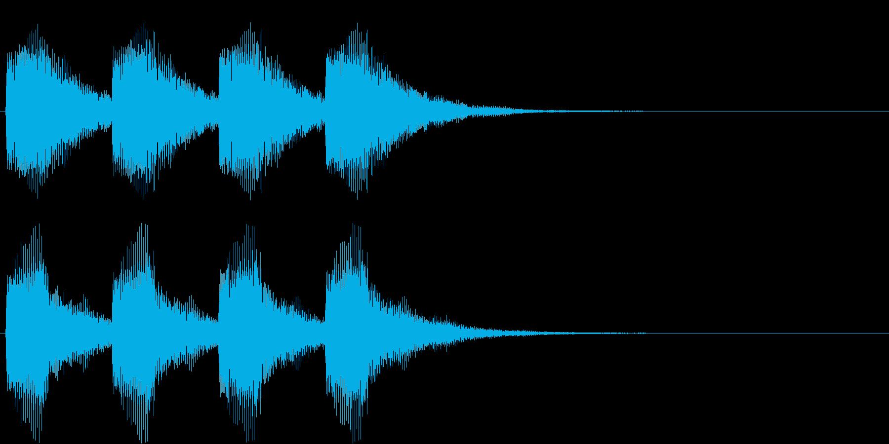 警告・警報・サイレン・ブザー#6(残響)の再生済みの波形