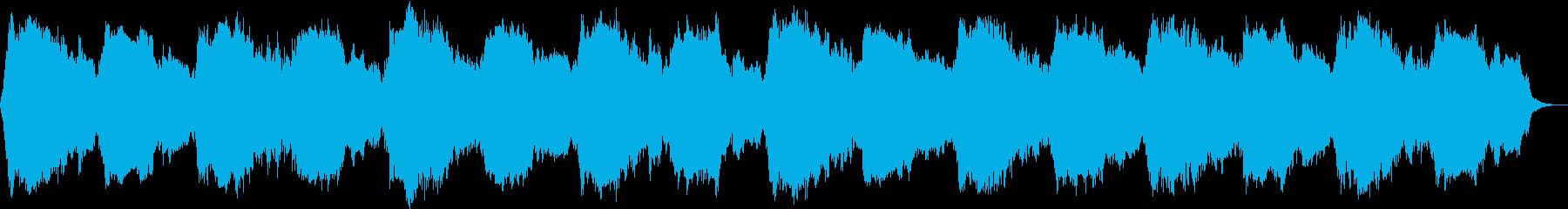 宇宙空間等のサイエンス映像向けBGMの再生済みの波形