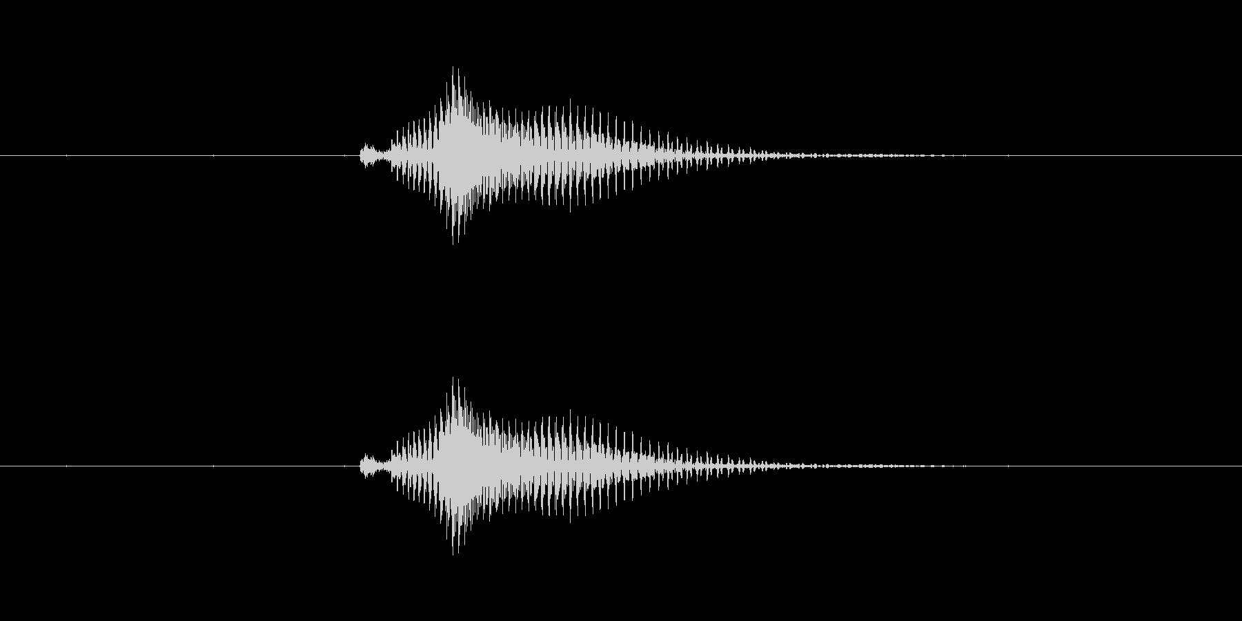 【数字】10(テン)の未再生の波形