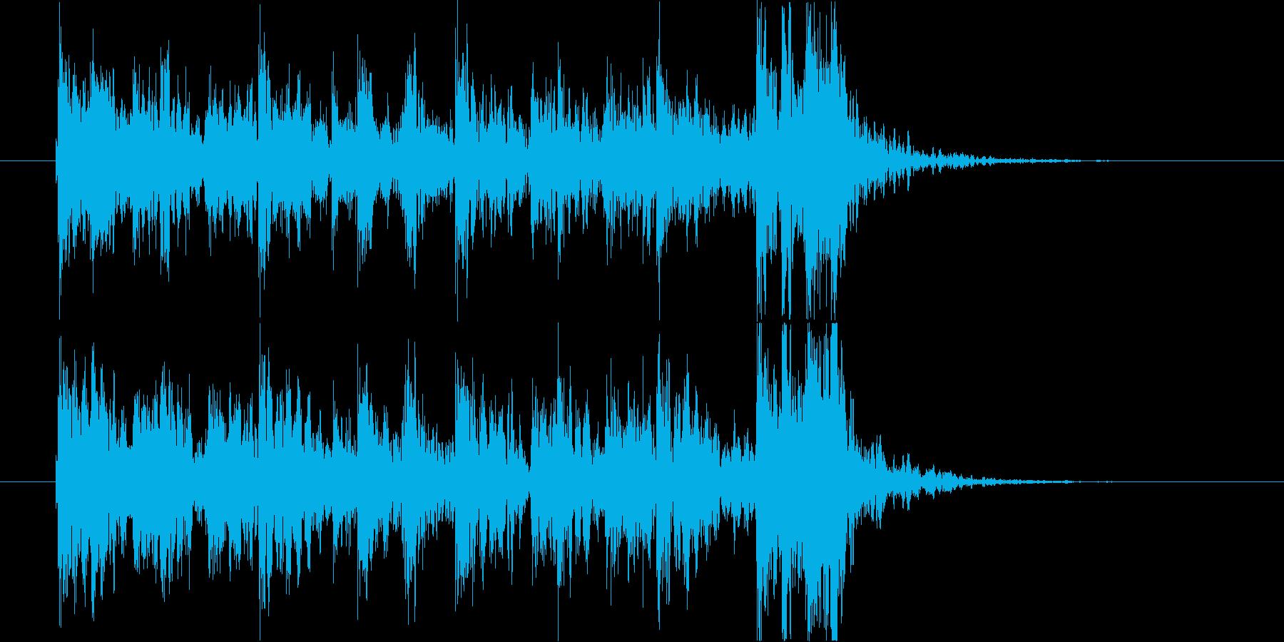 和風◆力強い掛け声と太鼓のジングルの再生済みの波形