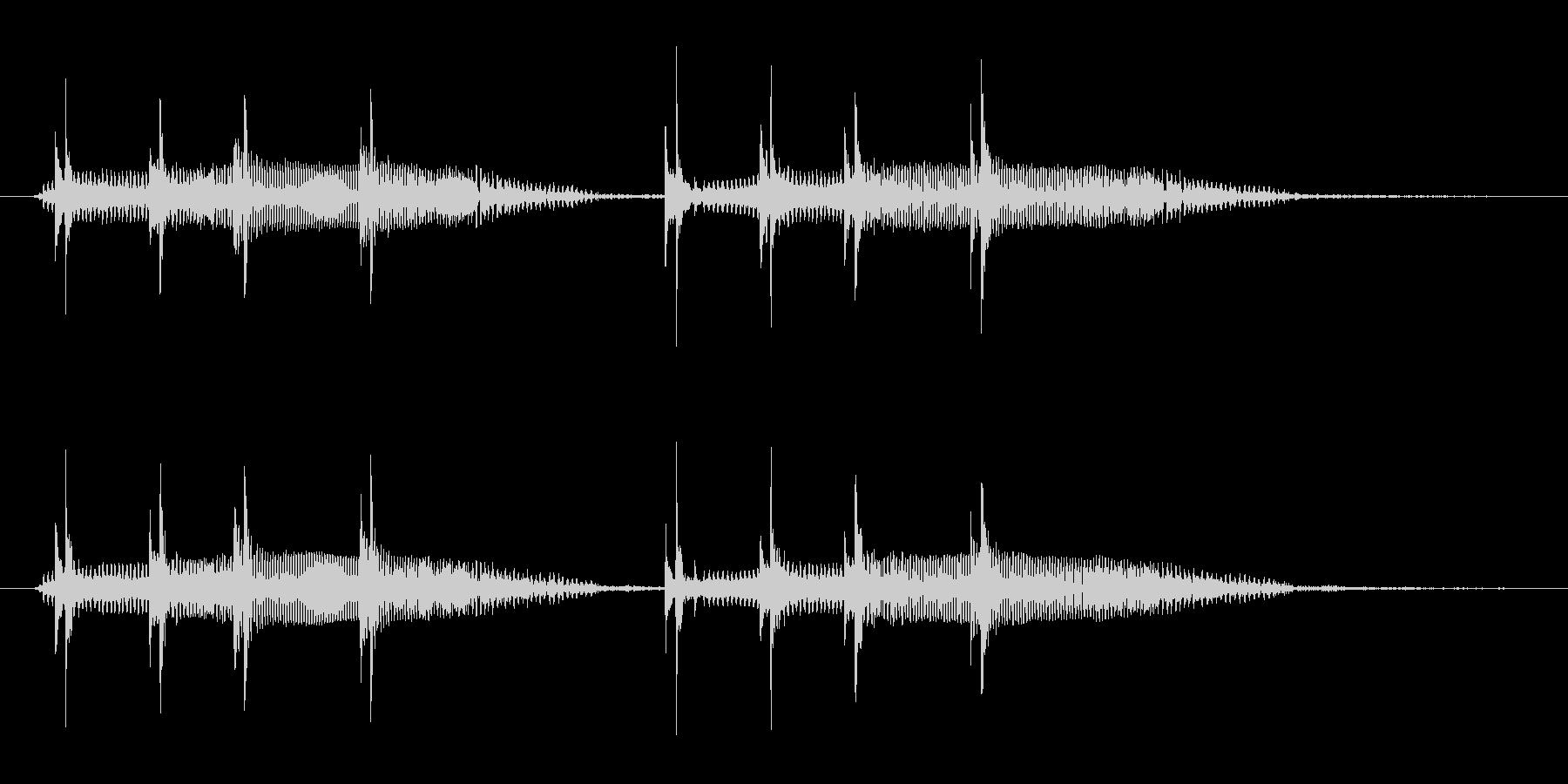 失敗した時のコミカルなジングルの未再生の波形