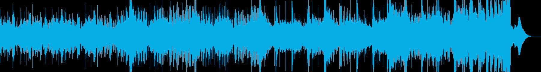 インダストリアルでシネマティックな曲の再生済みの波形