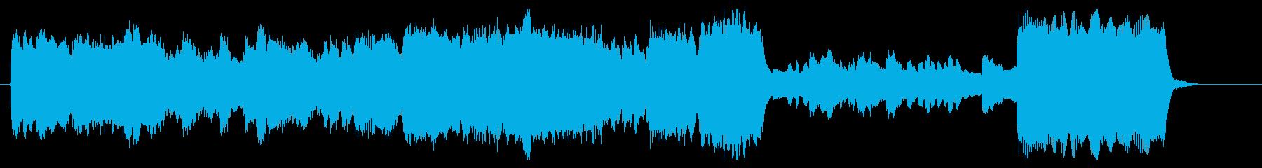 ゴシック、荘厳なパイプオルガンのジングルの再生済みの波形
