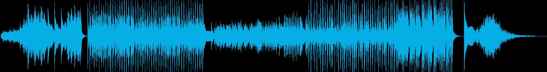 強い意志を表現したピアノの曲の再生済みの波形