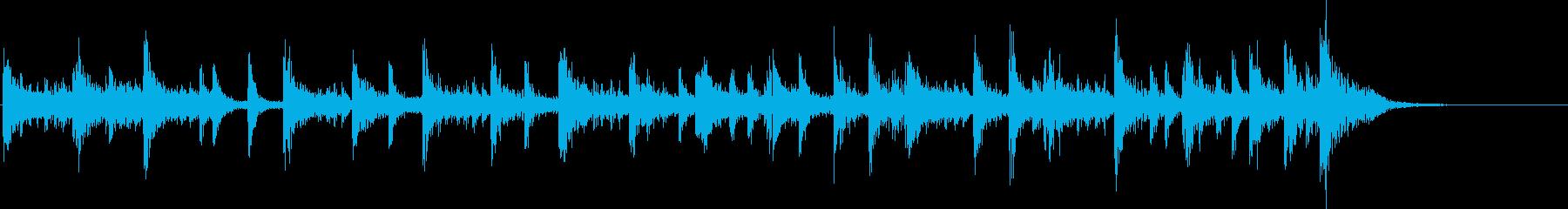 マーチングテーマ1:ドラムのみの再生済みの波形