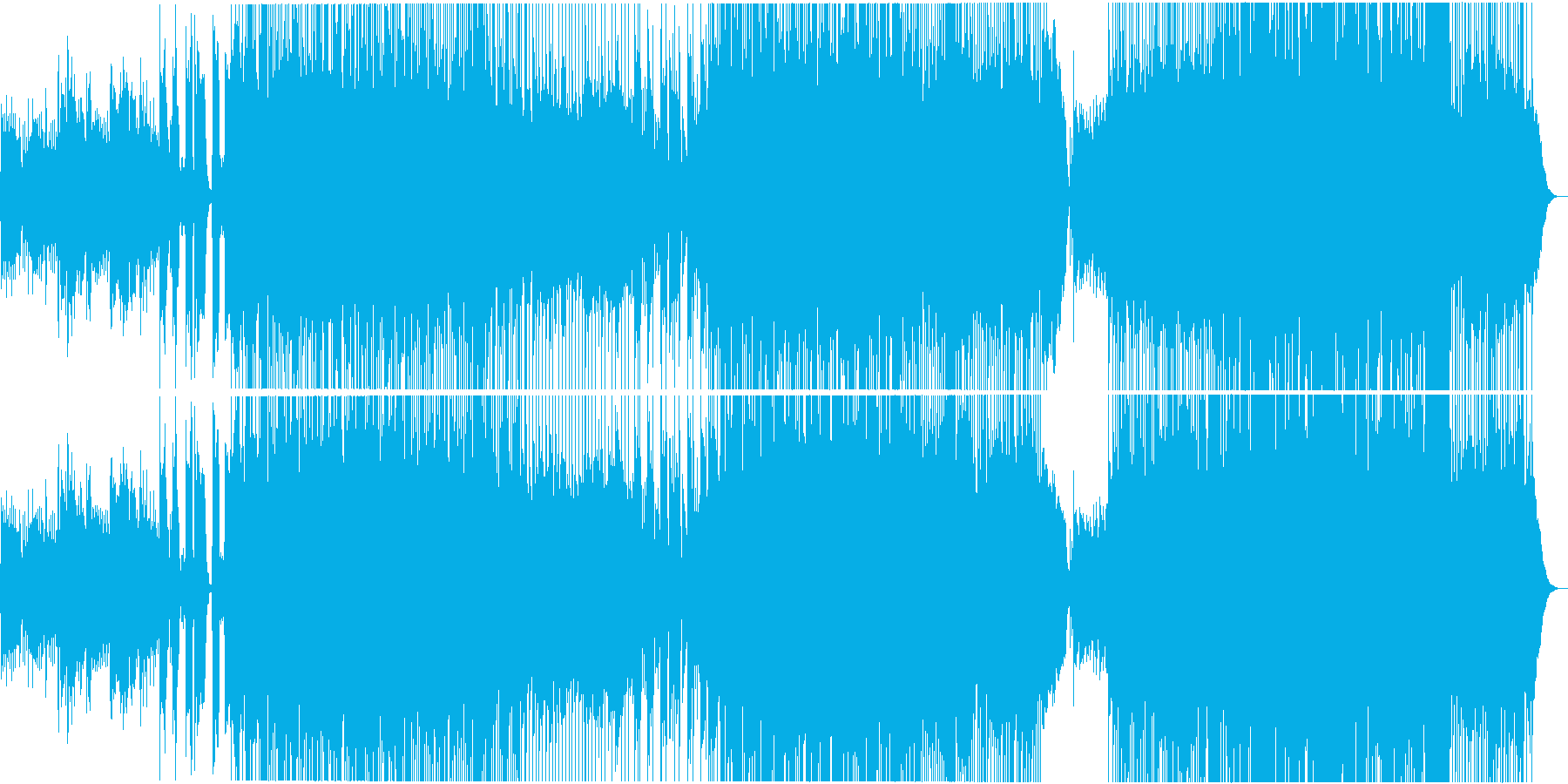 切ない/全生音/バンド/ロックバラードの再生済みの波形