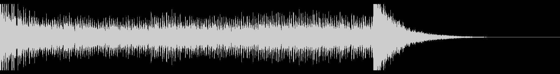 シンプルなドラムロール(12秒)の未再生の波形
