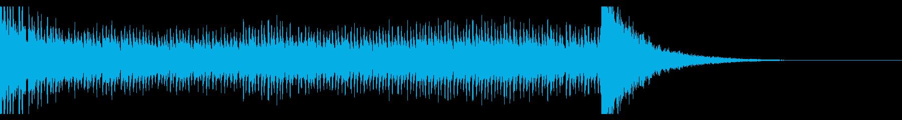 シンプルなドラムロール(12秒)の再生済みの波形