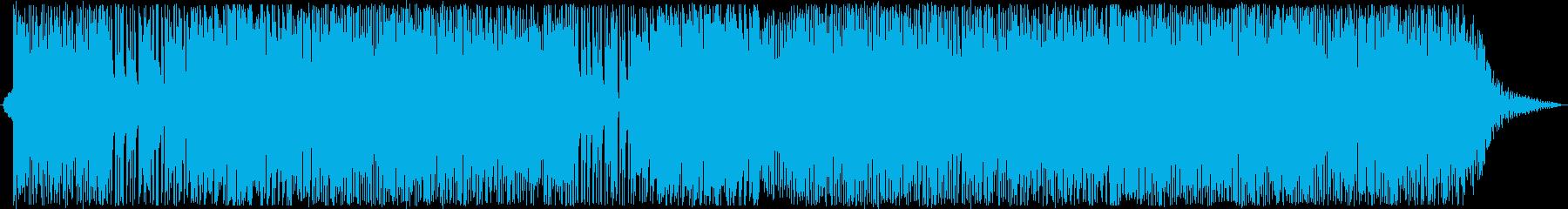 おしゃれな感じのポップスの再生済みの波形