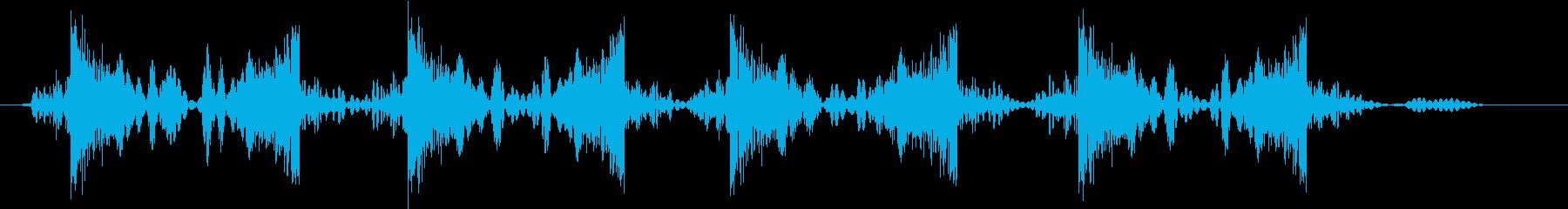 ジュクジュクジュクジュクの再生済みの波形