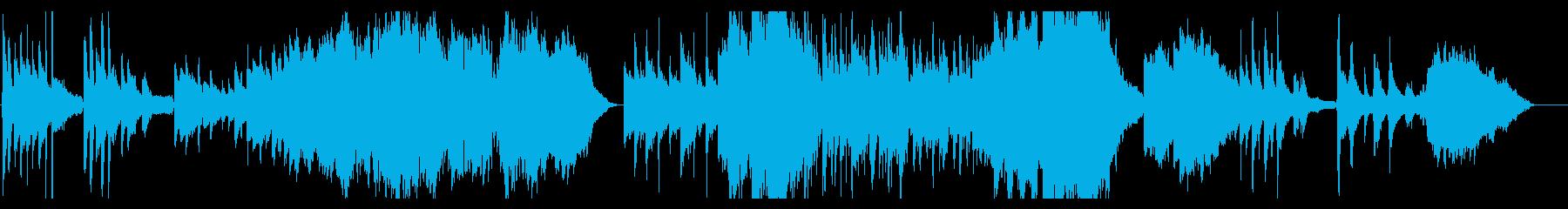 ノスタルジーなピアノ・ストリングスの再生済みの波形