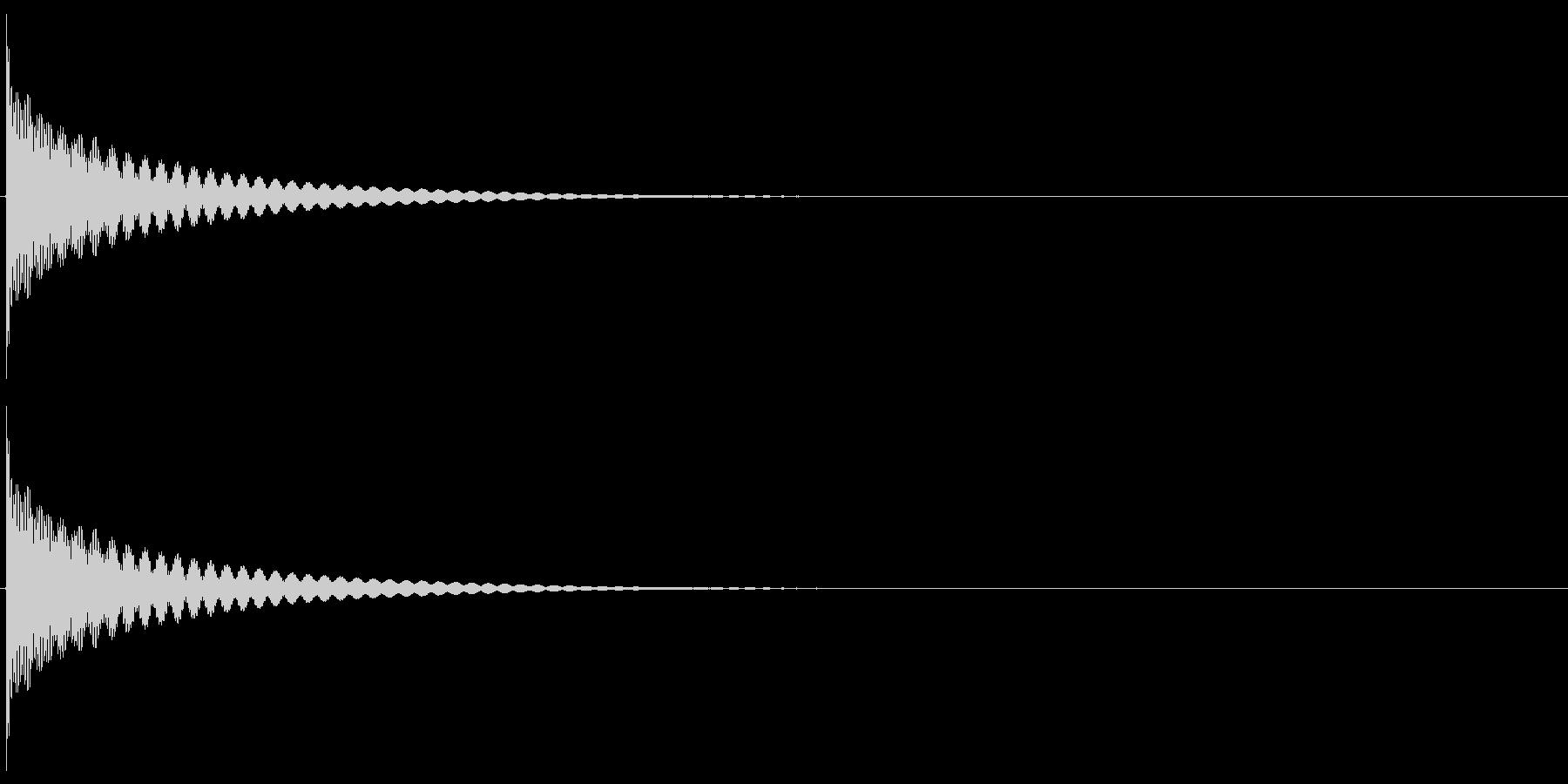 チーン(ティンシャ/チベタンベル/瞑想)の未再生の波形