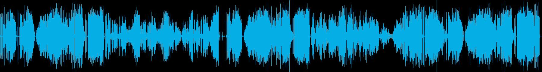 グランドピアノで演奏したクラシック曲の再生済みの波形