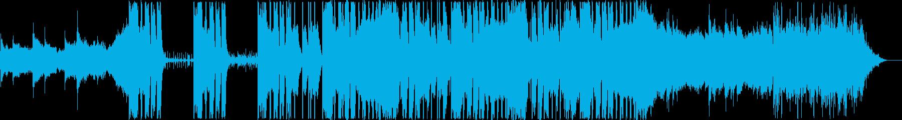 シンプルでスタイリッシュなBGMの再生済みの波形