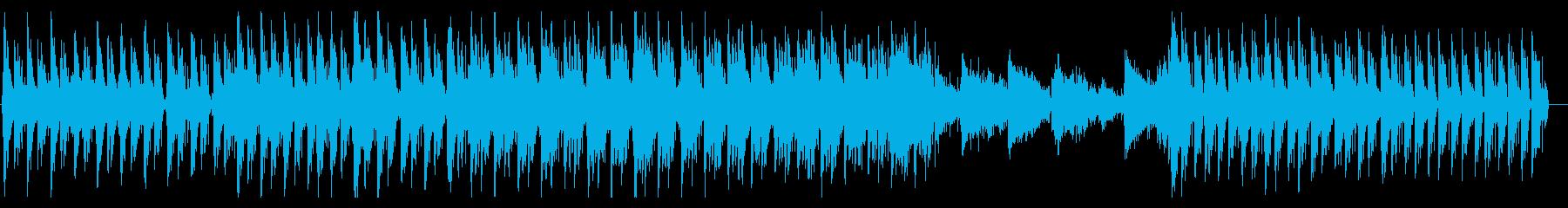 キラキラした軽快なジャジーヒップホップの再生済みの波形