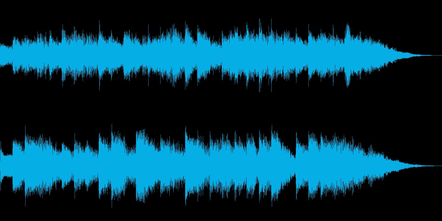朝の目覚めをイメージする15秒のBGMの再生済みの波形